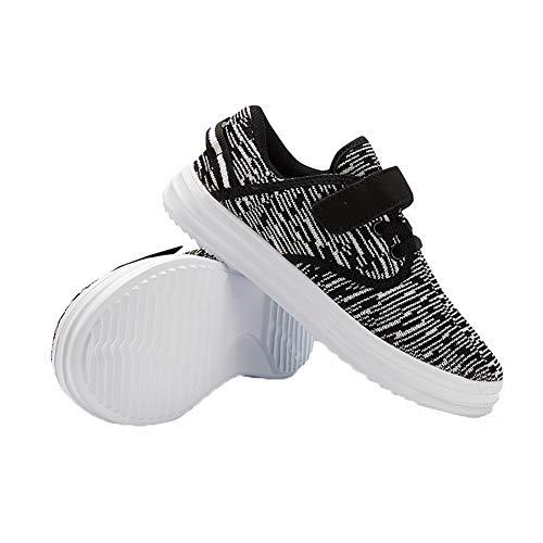 Kids Sport Schoenen Kids Schoenen Jongens Meisjes Ademende Casual Sneakers Klittenband Instappers Indoor Schoenen Hardloopschoenen Lichtgewicht Wandelschoenen voor Outdoor Hardlopen Unisex Kids Grijs EUR 26