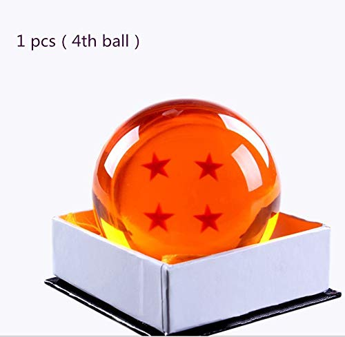 Collectible Medium Crystal Glass Stars Bals Dragon Ball (43,76 mm de diámetro)