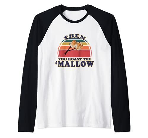 Smores Marshmallow Retro S'mores Group Disfraz de Halloween Camiseta Manga Raglan