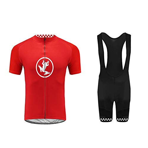 BurningBikewear Uglyfrog Ropa Conjunto Traje Equipacion Ciclismo Hombre Verano con 3D Acolchado De Gel, Maillot Ciclismo + Pantalon/Culote Bicicleta para MTB Ciclista Bici MES2019QXF03
