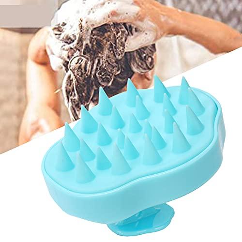Cepillo para limpiar el cuero cabelludo, cepillo para la caspa de diseño sofisticado, cepillo para champú de plástico + silicona, manual para damas, hombres, niños o cualquier mascota