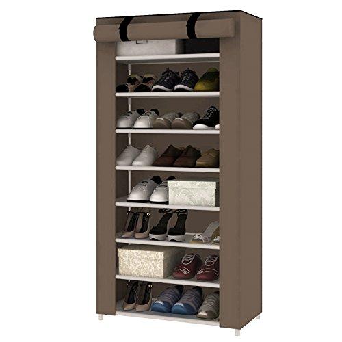 Mlu MultiWare Schuhregal Schuhständer Schuhablage Schuhschrank Schuhe Aufbewahrung 10 Ebenen Für 40 Paar Schwarz