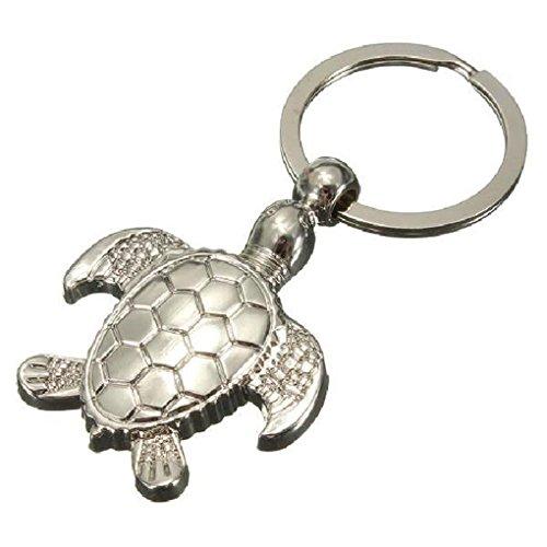 Xinjieda ZXR.Elwood Meeresschildkröte Keychain Anhänger Schlüsselanhänger Netter 3D Schlüsselring-Geschenk für Männer Frauen Mädchen