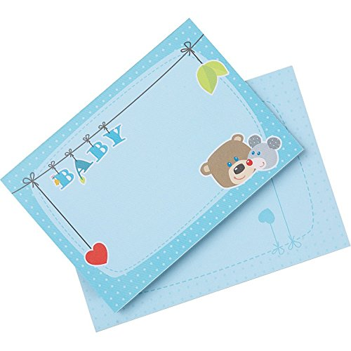 Haba Selection 7174 Geburtskarten Kuschelfreunde, blau