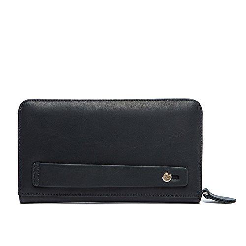 Aszhdfihas-Bag Bolso de Mano de Cuero Hombres Paquete de Bolsos de Mano de Alta Capacidad Compras Delgadas Un Regalo para Uso Privado Titular de la Tarjeta de crédito Monedero Bolsillo