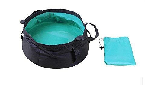 SHMGG Bolsa de viaje plegable para acampada, senderismo, lavabo plegable, color azul