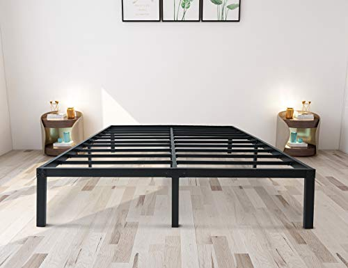 zizin California King Size Bed Frame Platform Base 14 Inch/Heavy Duty Metal Beds Frames/Steel Slats Support/Easy Assembly/Noise-Free/No Box Spring Needed (Cal-King)