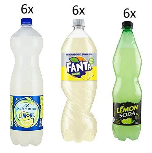 TESTPAKET Limonade San Benedetto Limone Fanta Lemon zero Lemonsoda Zitrone ( 6 x 1,5Lt ) ( 12 x 1Lt )