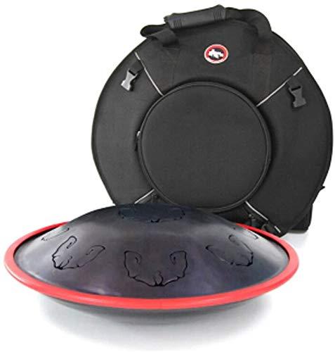 Tambor de la lengua de acero, Tambor de la lengüeta de acero Chakra Tambor de tanque de acero Instrumento de tambor de percusión con bolsa de viaje acolchada y mallets Bolsa de viaje para meditación Z