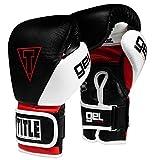 Title Boxing Gel E-Series Bag Gloves, Black/White/Red, Medium