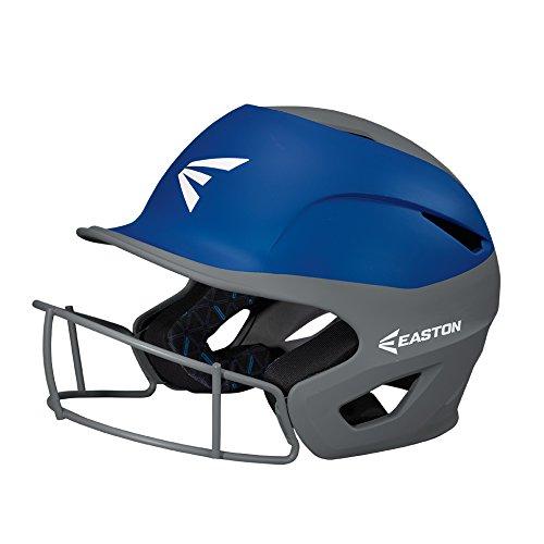 EASTON PROWESS Softball Batting Helmet W  Mask, Medium Large, Matte Royal Charcoal