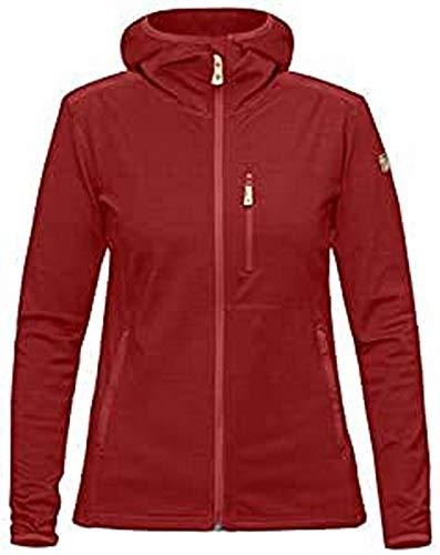 FJÄLLRÄVEN Keb Fleece Hoodie W Sweat-Shirt Femme, Lava, FR : L (Taille Fabricant : L)