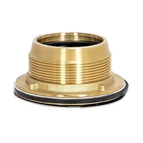 Eastman 15306 Brass Caulk Shower Drain, 2 inch IPS, Stainless Steel, 2