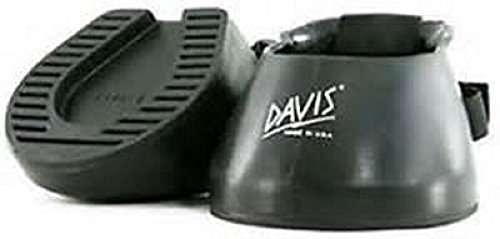 Davis Hufschutz für Pferde, Gummi, Schwarz, #000