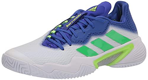 adidas Men's Barricade 12 Racquetball Shoe, White/Screaming...