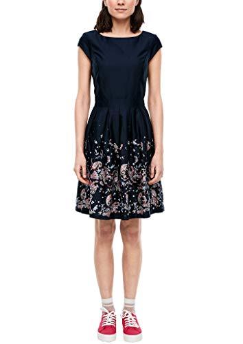 s.Oliver Damen 120.12.003.20.200.2027866 Kleid für besondere Anlässe, Navy panneau Print, 40