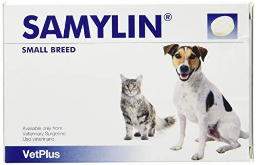 VetPlus Samylin Pequeñas Envase con 30 Comprimidos de Complementos para Sistema Digestivo