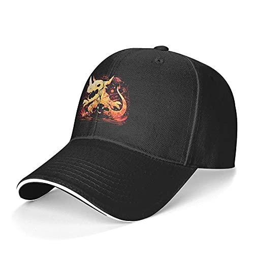 N \ A Gorras de béisbol Digimon Fire unisex ajustable pico sándwich sombrero gorra de béisbol Hip Hop al aire libre sombrero negro