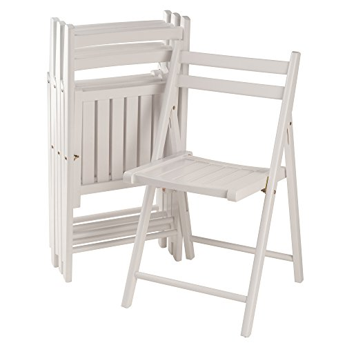 Winsome Robin 4-PC Folding Set White Chair