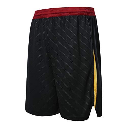 NBA Cleveland Cavaliers Pantaloncini Partita di Basket Outdoor Traspirante ad Asciugatura Rapida Scheda Vintage,Black,5XL/185-190cm