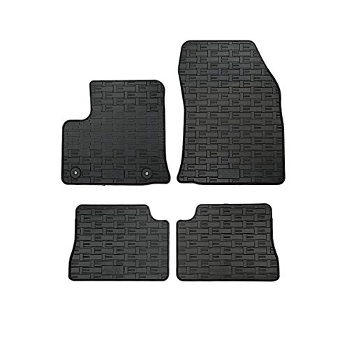Satz Gummimatten kompatibel mit Peugeot e-208 / Opel e-Corsa F / Citroën DS3 Crossback Electric 2019- (4-teilig + Montagesystem)