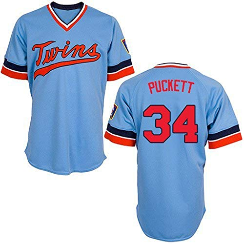HYQ Major League Baseball-Team Sportswear, Minnesota Twins, MLB # 22, Sport atmungsaktiv Kurzarm T-Shirt Trainings-Uniform,Elite Basketball 34,XXL/54