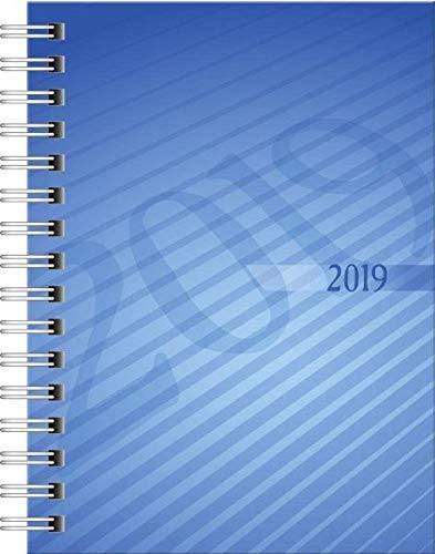 Rido/idè 701310230 Taschenkalender perfect/Technik I, Kalendarium 2019, blau