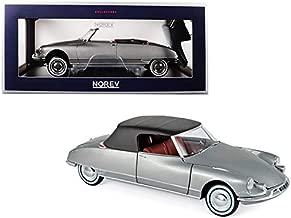 1961 Citroen DS 19 Cabriolet Pearl Grey 1/18 Diecast Model Car by Norev