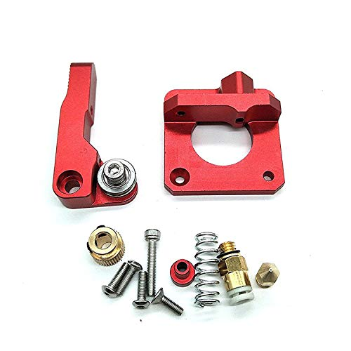 CR-10 Extruder Upgraded Replacement, Aluminum MK8 Drive Feed 3D Printer Extruders for Creality CR-10, CR-10S, CR-10 S4, CR-10 S5, RepRap Prusa i3, 1.75mm 3D Printer Parts