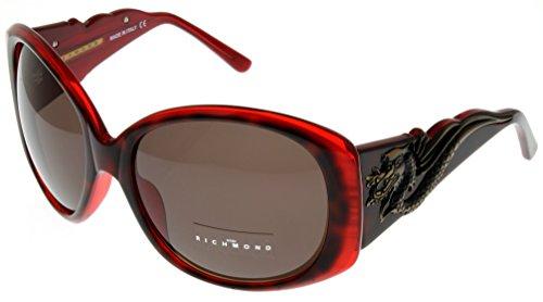 John Richmond Sunglasses Womens JR675 03 Burgandy Bronza