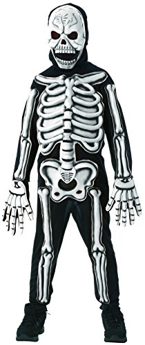 Rubies Glow in The Dark Skeleton Child Costume, Large, One Color