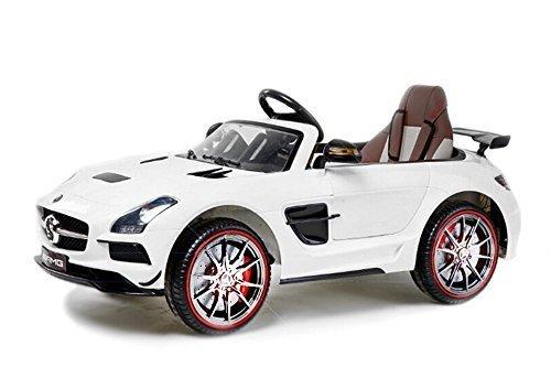 Licencia Coche niños Mercedes - Benz SLS AMG 2 x 25W 12V...