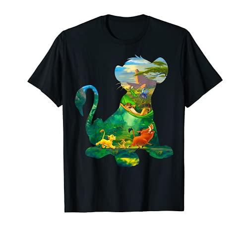 Disney Lion King Simba Silhouette Graphic T-Shirt T-Shirt