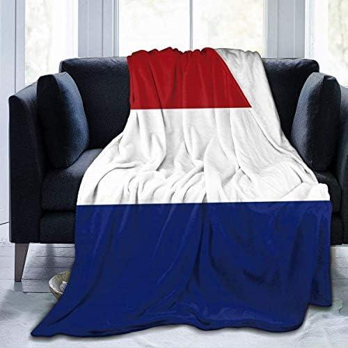 Couverture Polaire Pays-Bas Beau Drapeau Microfibre Couvertures De Literie Légères Lit Super Doux Confortable Canapé De Chaud Tapis De Yoga Couvertures Jet L
