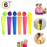 Silicone Ice Pop Molds with Lids Reusable Freeze Pop Mold & Food Grade Material Made Ice Pop Bags Hand-Held Small DIY Ice Cream Molds Popsicle Durable Ice Cream Maker Molds