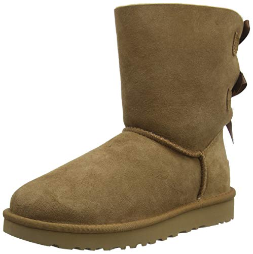 UGG Female Bailey Bow II Classic Boot, Chestnut, 37 EU