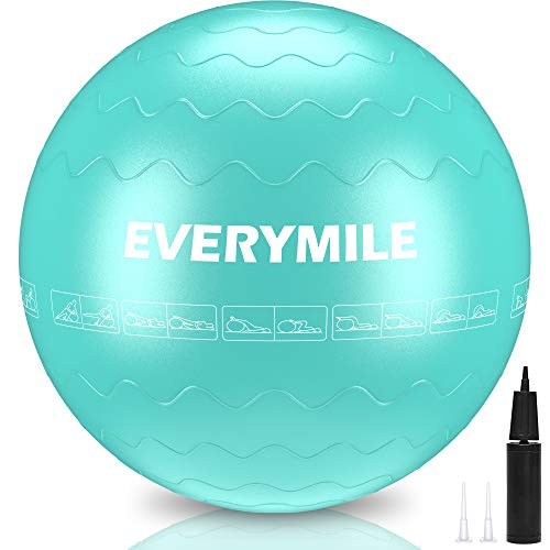 EveryMile Exercise Ball (55-75cm), Thick & Anti...