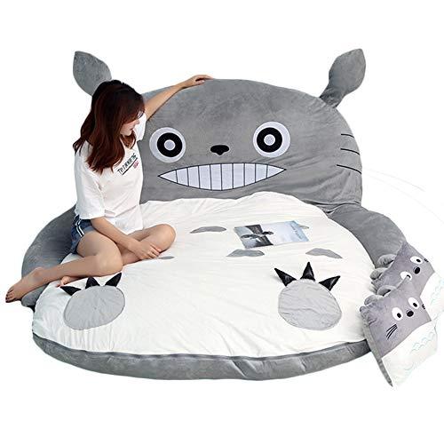 BJZP My Neighbor Totoro Sacco a Pelo Divano Letto Letto Matrimoniale Materasso per Letto a Due Piazze Warm Cartoon Tatami Beanbag My Neighbor Totoro Sofa,1.9x1.2m