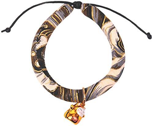 DHGTEP Collar para Gato con Campana, Cómodo Algodón PP Collar de Perro Collar de Gato Cadena de Cuello Accesorio para Mascotas (Color : Gray)