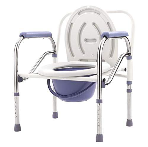 LQ&XL Toilettenstuhl, Zusammenklappbar Wc-sitz Höhenverstellbar Mobilität Behinderung Hilfe Badezimmer Komm