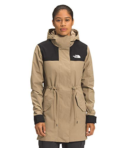 The North Face Women's Metroview Trench, Kelp Tan/TNF Black, XS