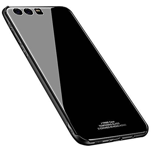 Kepuch Quartz Huawei P9 Cover - TPU + Vetro Temperato Indietro Custodia per Huawei P9 - Nero