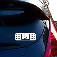 車のラップトップの窓のステッカーのための13.5 * 4.1Cm楽しみバンド援助のハンディキャップの車椅子のステッカー車のステッカー