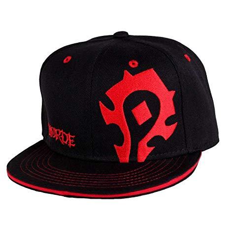 World of Warcraft Horda logotipo del casquillo del Snapback gorra de béisbol roja negro