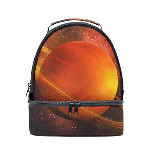Orediy Saturn Kühltasche, isoliert, Doppeldecker, für Kinder, Studenten, Bento, Lunchbox, für Reisen, Picknick, Schule, Büro