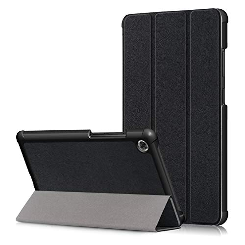 KUWEI Tab M7 TB 7305F 70 Hulle fur Lenovo PU Leder Flip Schutzhulle Ultra Dunn Superleicht Case Tasche Standerfunktion fur Lenovo Tab M7 70 Inch Tablet PC Black