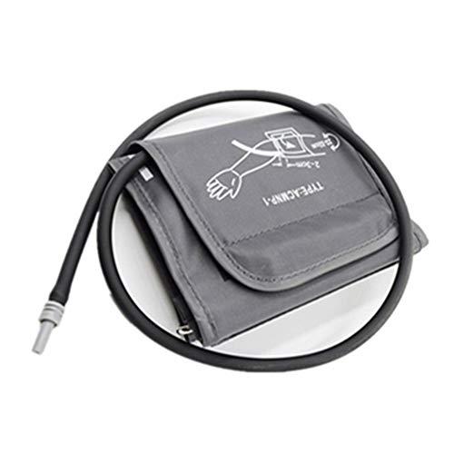gshhd0 Brazalete de esfigmomanómetro de 22-32 cm, Gris Plateado/Gris Oscuro Solo Brazalete de Repuesto para monitores de presión Arterial