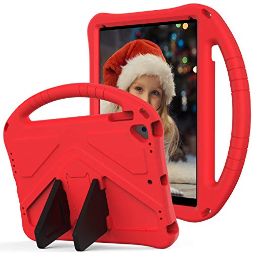 SZCINSEN Funda para iPad Air 2, iPad Pro 9.7, para niños Eva a prueba de golpes, ligera, a prueba de caídas, con asa grande, funda protectora resistente para iPad 6 (color rojo)