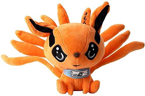 30Cm Anime lindo Naruto Kyuubi Kurama Nine Tails Fox Peluches Realistas muñecos de peluche de dibujos animados Animales Regalos de cumpleaños Dormitorio Decoración de oficina
