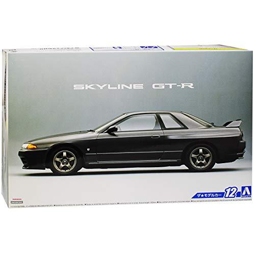 Aoshima Nissan Skyline R32 GT-R Coupe Schwarz 1989-1993 Kit Bausatz 1/24 Modell Auto